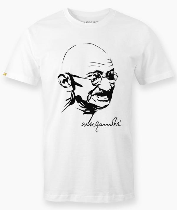 Violence begin with the fork – Gandhi T-Shirt