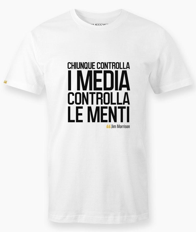 Chiunque controlla i media – Jim Morrison T-Shirt