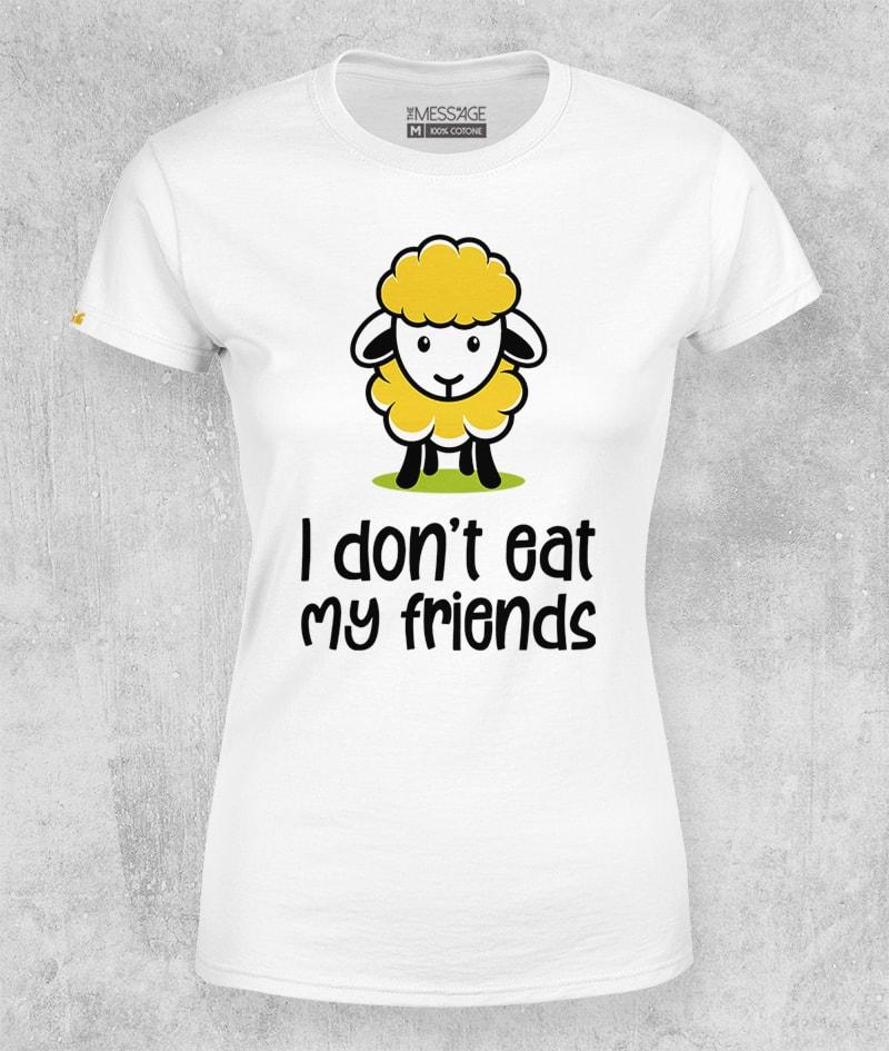 I don't eat my friends T-shirt – Mod.1