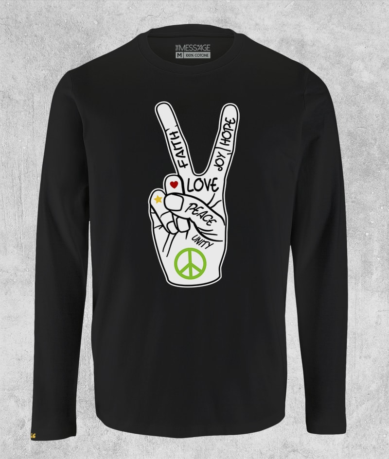 Peace and Love T-Shirt – Manica lunga