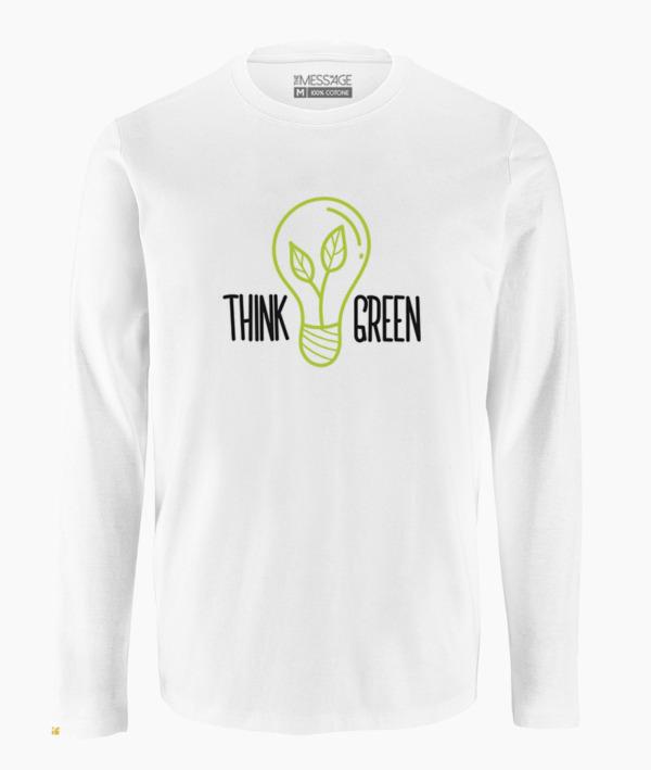 Think Green – T-Shirt – Manica lunga