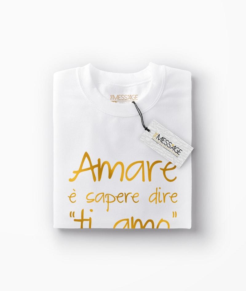 Amare è sapere dire ti amo – Victor Hugo T-Shirt
