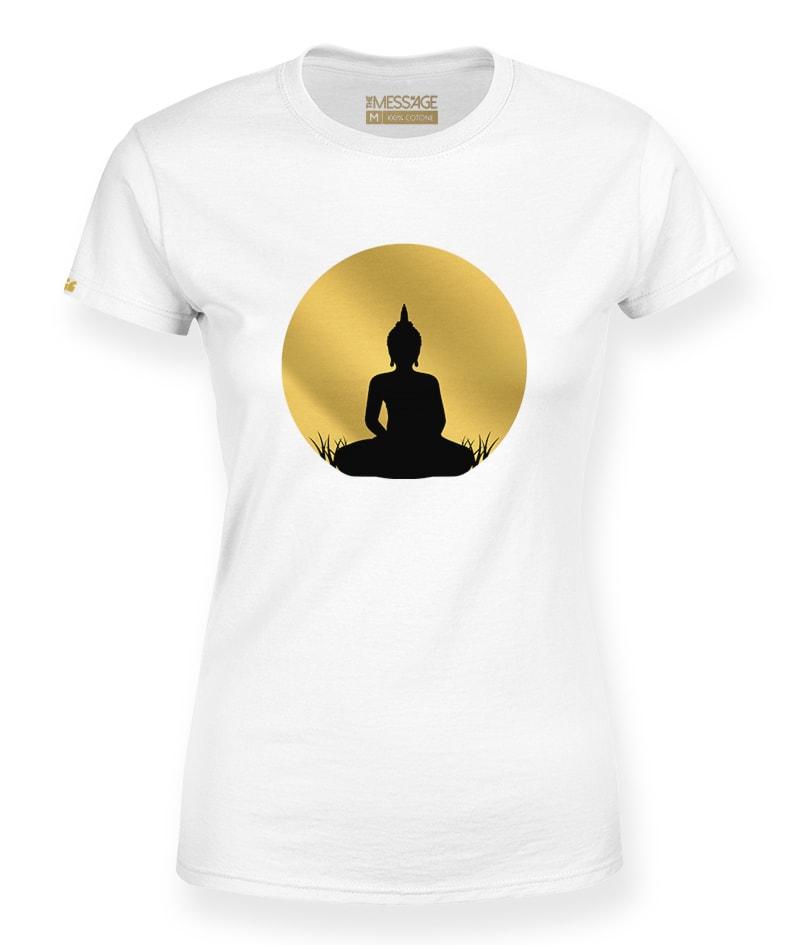 Buddha al tramonto dorato T-Shirt