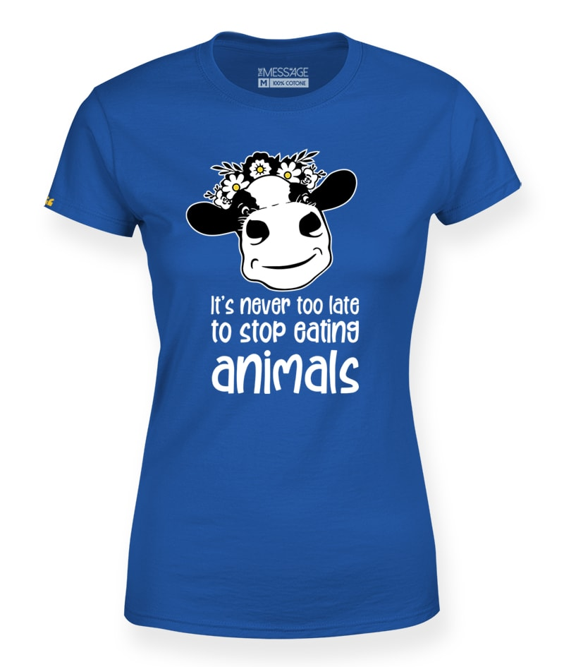 It's Never Too Late To Stop Eating Animals T-Shirt
