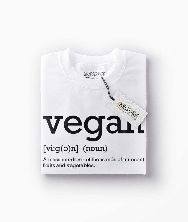 Vegan Definition T-Shirt – Manica lunga