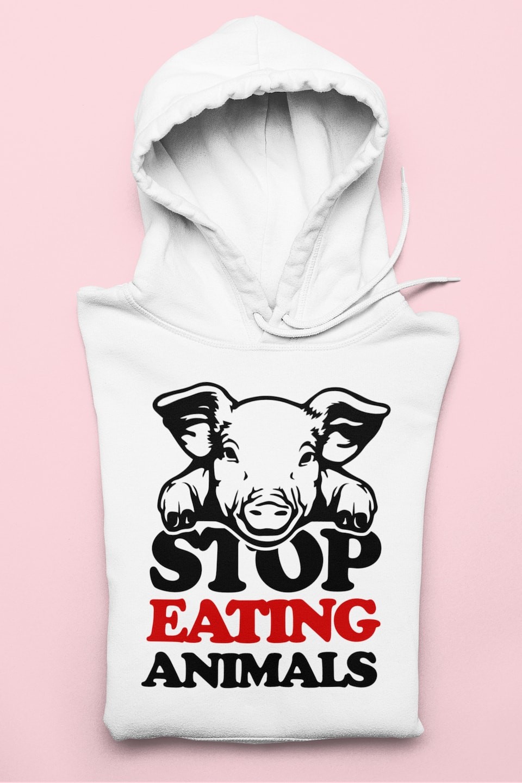 Stop Eating Animals – Felpa – Mod.1