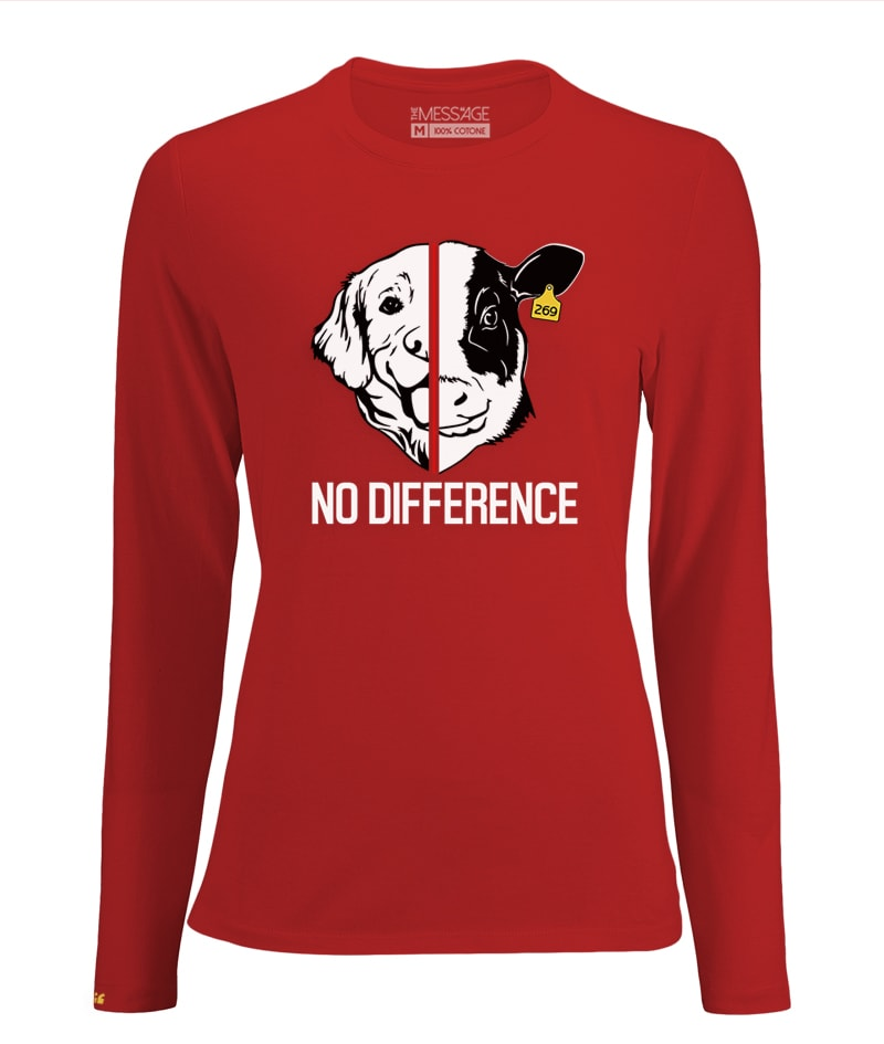 T-Shirt Antispecista – No Difference – Manica lunga