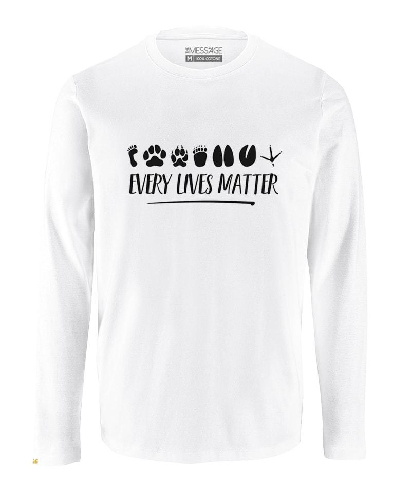 Every Lives Matter T-Shirt – Manica lunga