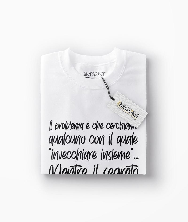 Il segreto è trovare qualcuno – Charles Bukowski T-Shirt – Manica lunga