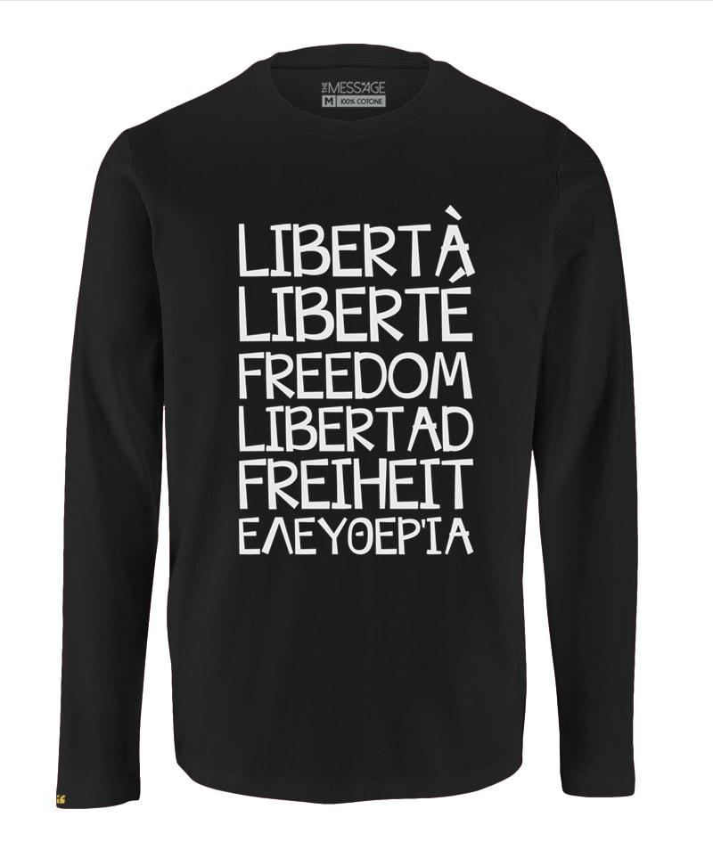 T-Shirt Libertà – Liberté – Freedom – Libertad – Freiheit – Ελευθερία